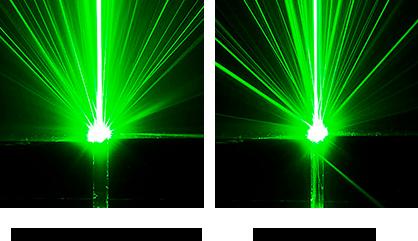 ウィリアムレニーダイヤモンドと通常のダイヤモンドの光の反射の比較