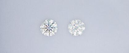 ウィリアムレニーダイヤモンドと通常のダイヤモンドの明るさの比較