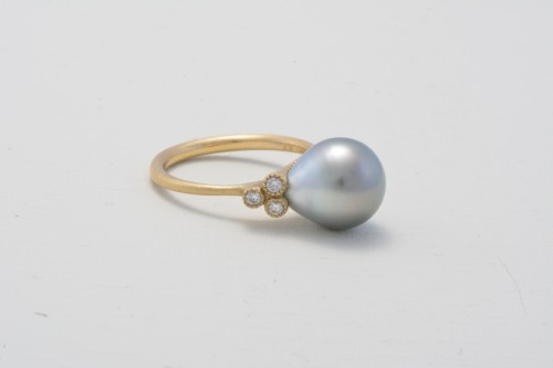 baroque+pearl+&+diamondK18ring+¥120,000
