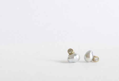 baby+akoya+pearl+&+diamond+K18+piece_¥32,000
