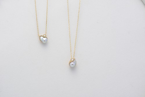baby+akoya+pearl+&+diamond+K18+neck+2_¥62,000