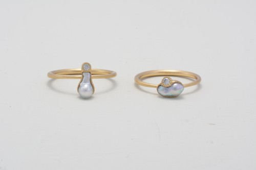 baby+akoya+pearl+&+diamond+K18+ring_¥62,000