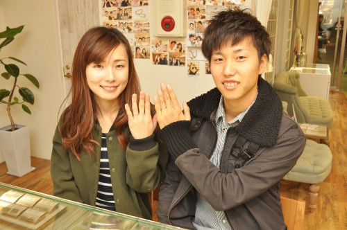 幸せカップル|結婚指輪|ブライダルリング