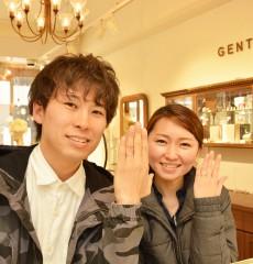 幸せカップル 結婚指輪 マリッジリング ブライダルリング