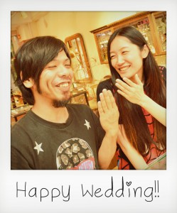 幸せカップル|結婚指輪